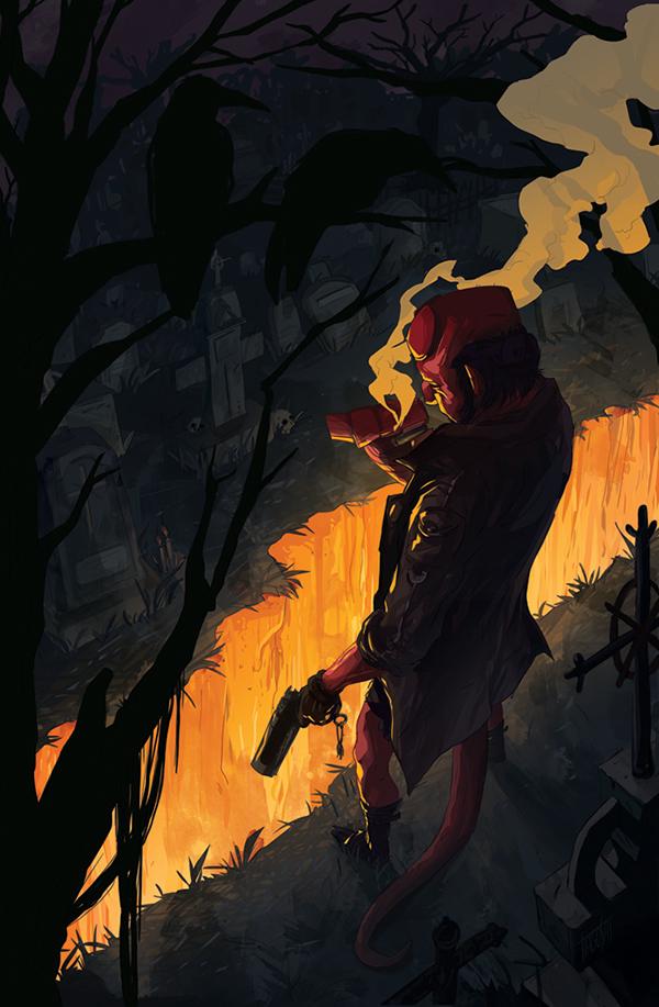 Hellboy by Tiago Silva