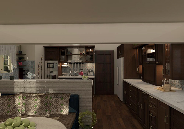 kitchen design-amr hamad's villa, cairo/egypt on student show