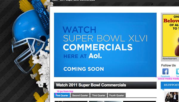 superbowl AoL background graphics