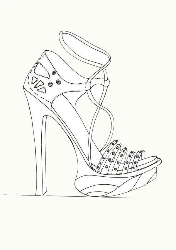 Line Art Shoes : High heels on behance