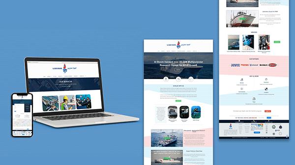 Business Website Mock-up Photoshop