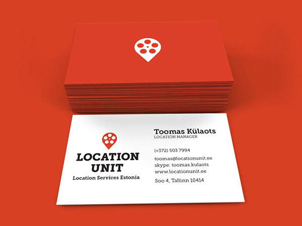 Location unit branding on behance these two elements combined make up the main symbol of the logo to represent experience and precision which are both crucial in film location management colourmoves