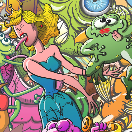Princess and toad in creatures festival