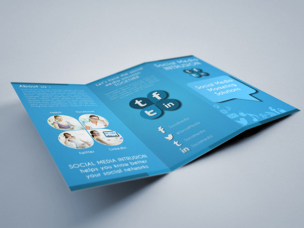 Social Media Trifold Brochure Template On Behance - Template brochure