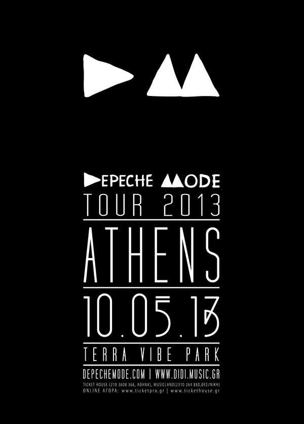 depeche mode live in athens 2013 tour on behance. Black Bedroom Furniture Sets. Home Design Ideas