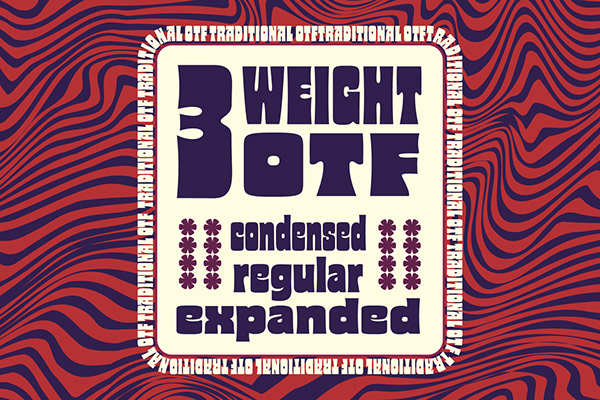 Glaw - Psychedelic Typeface Variable Fonts