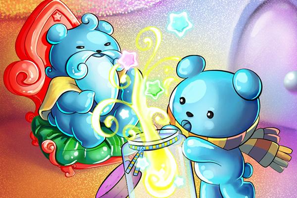 candypot game grandfather Magic   bear blue Blue Bear cute history