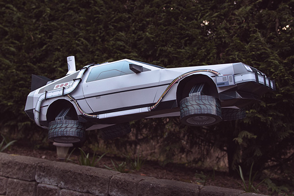 Paper Car Template >> DeLorean - BTTF Inspired papercraft on Behance