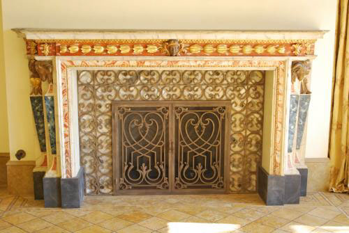 wrought iron fireplace accessories on behance. Black Bedroom Furniture Sets. Home Design Ideas