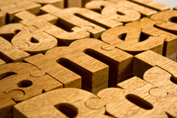 wood type letters nuzzles handmade wooden puzzle