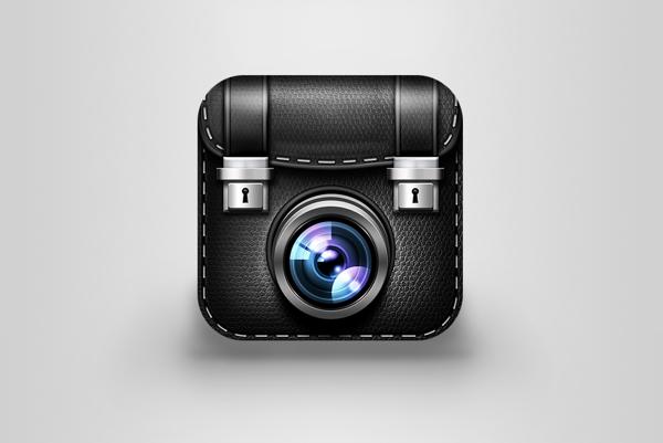 Icon ios android mobile application icon set