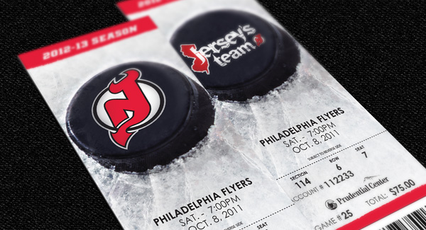 best service f19cb 9ba43 New Jersey Devils Tickets on Behance
