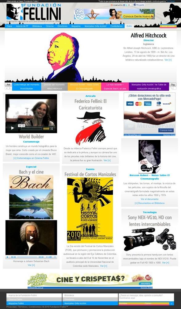 template HTML css design Web Cinema audiovisual