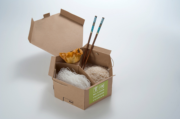 Sustainable bagless take out packaging on behance - Envases take away ...
