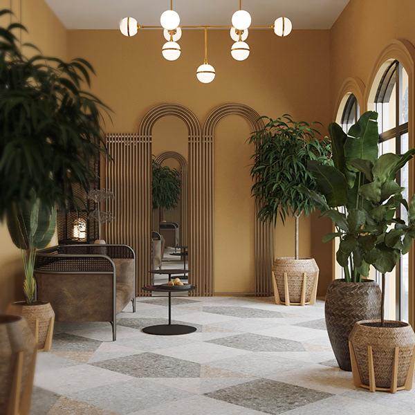 Art Deco Veranda Design and Rendering on Behance