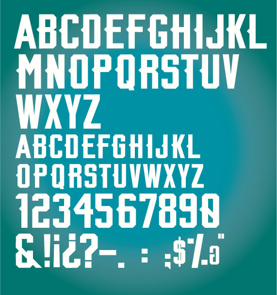269283d1 PANTHERS FONT on Behance