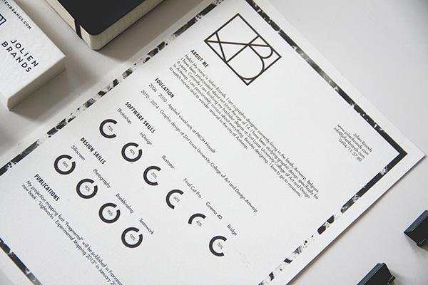 letterpress logo Logo Design Business Cards stationary brand Identity Design Minimalism curriculum CV Resume identity White