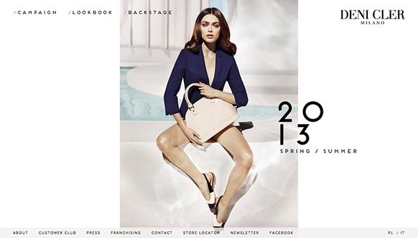 Web AWWWARDS awarded html5 Sophie Vlaming top model fullscreen