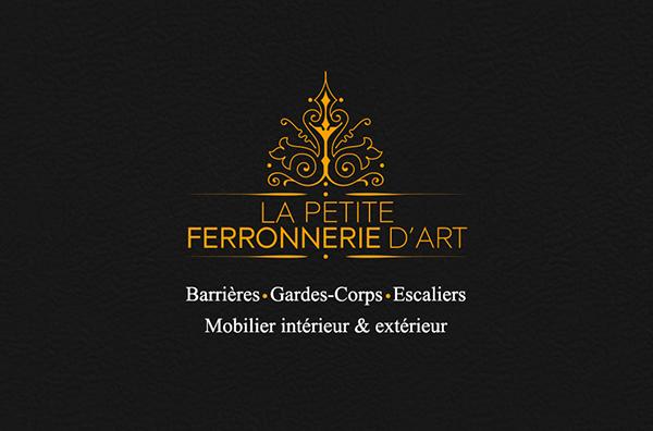 Cration Dune Identit Visuelle Pour La Petite Ferronnerie DArt Ralisation Du Logo Carte De Visite