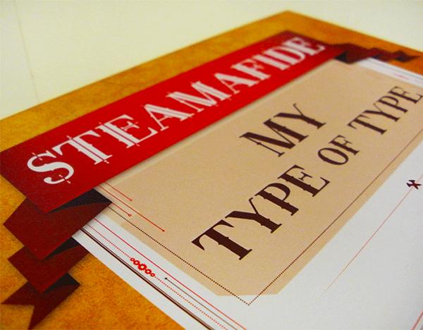 STEAMPUNK  publication Steamafide  font  typeface  Type design font design font family
