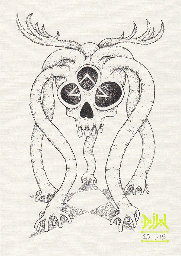 skull Triclops Pentagram demon Summoned Magic   weird