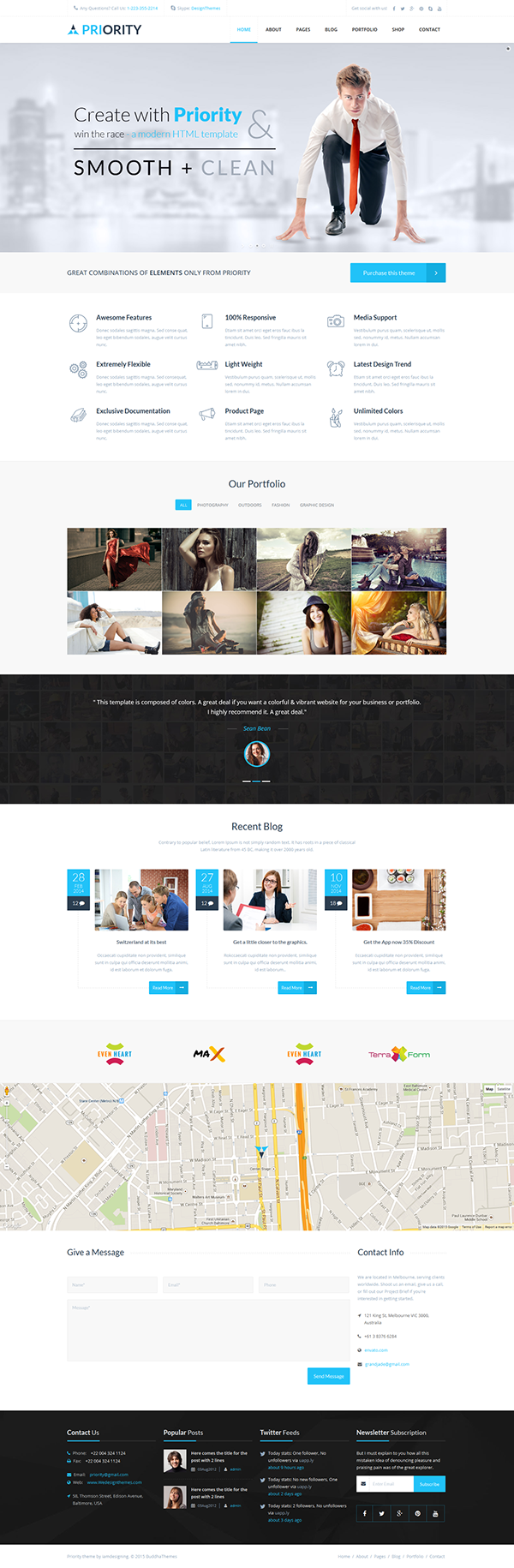 Priority multipurpose html5 template on behance for Page 3 salon coimbatore