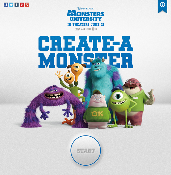 Monsters university create a monster app on behance voltagebd Choice Image