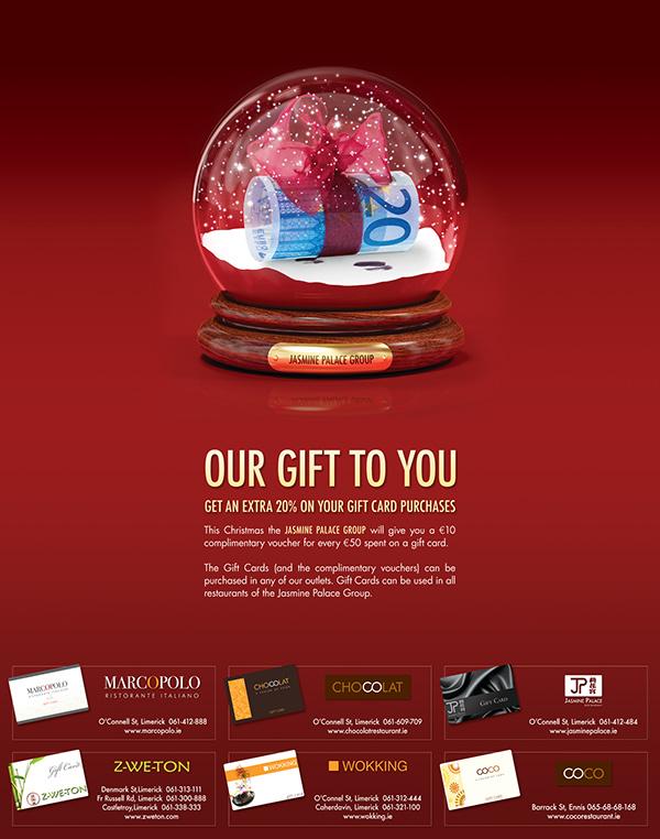 Print Advertisement For Restaurants Gift Card Offer On Behance