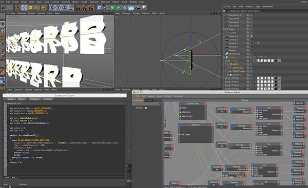 Broadcast Design design cinema4d after effects type font din