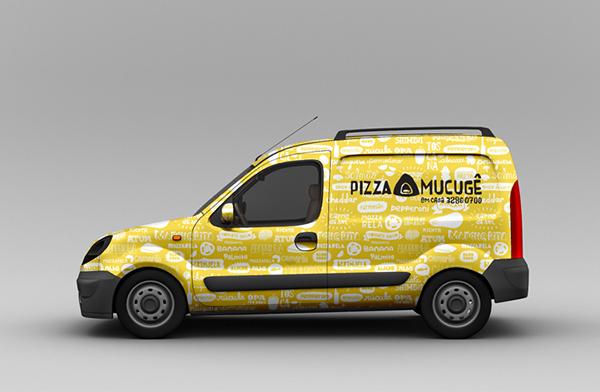 Pizza mucuge pizzaria visual identity identidade visual pattern