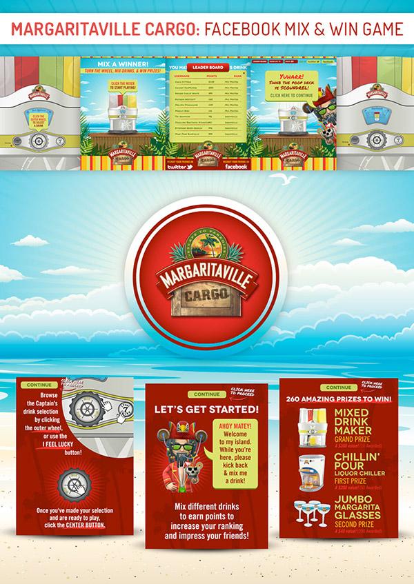 Margaritaville Cargo Facebook Mix & Win Flash Game on Behance
