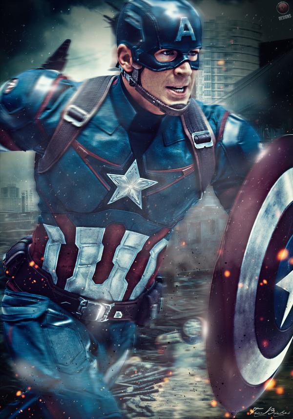 Капитан америка постер в хорошем качестве