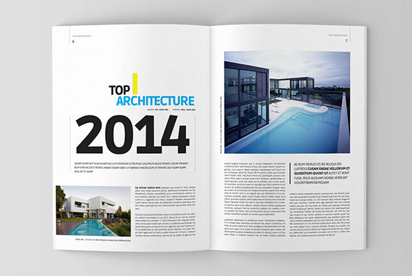 Architecture magazine template on behance for Magazine templates for pages