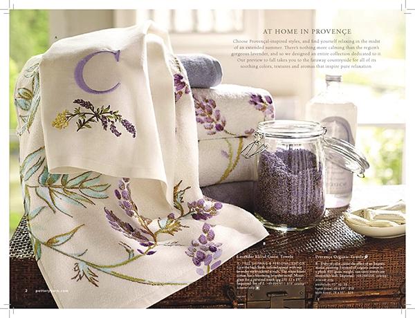 pottery barn bed bath catalog on behance