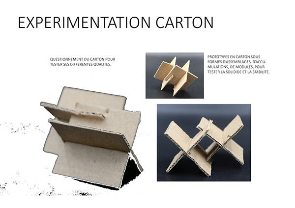 EXPERIMENTATION CARTON ( Design de materiaux)