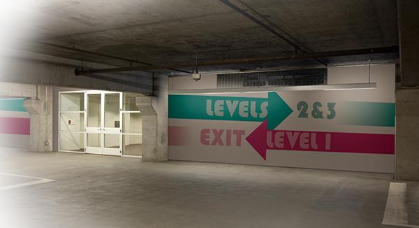parking garage wayfinding on behance