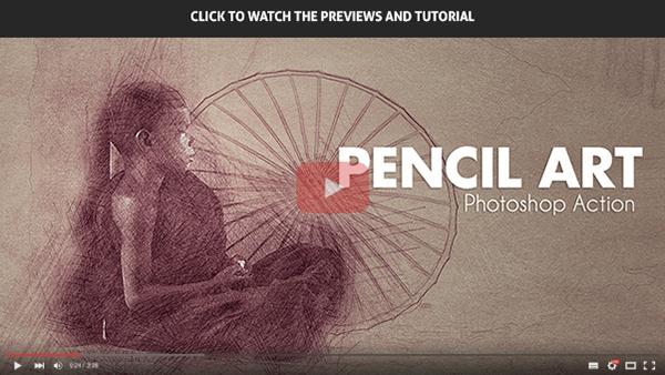 Pencil Art - Photoshop Action - 1