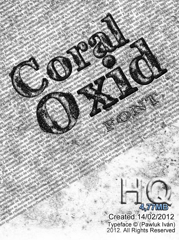 font  coral oxid ivan pawluk  ideas art design  free  creative