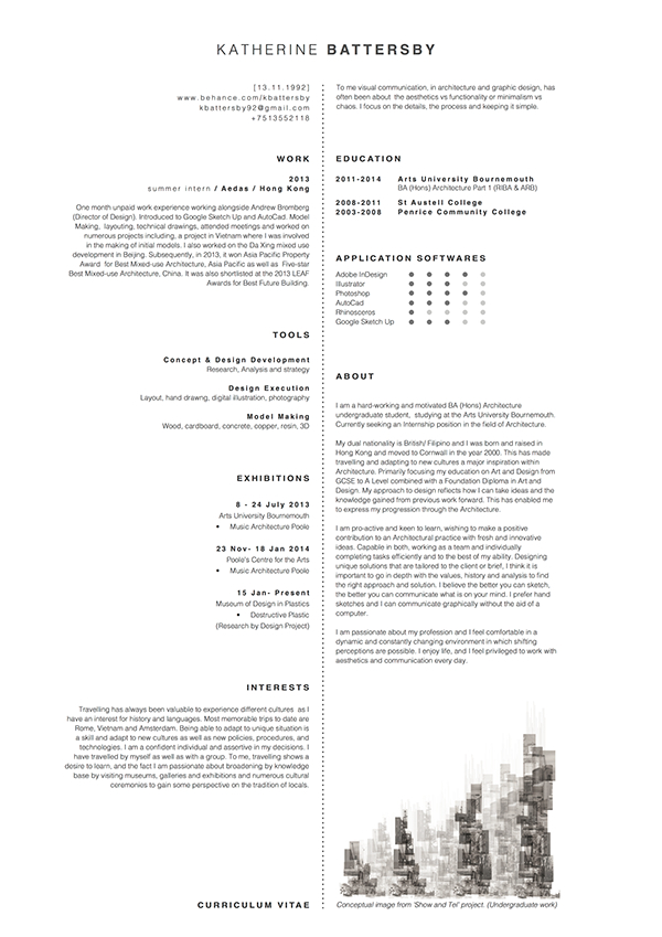 Architect Cv Cv Resume Templates Examples