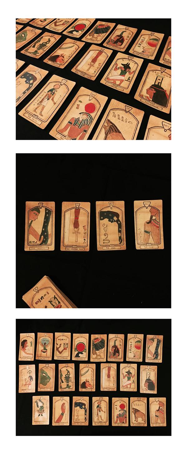 Tarot Card Design In Ancient Egyptian Symbols On RISD