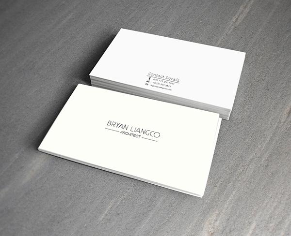 Minimalist Business Card Design on Behance