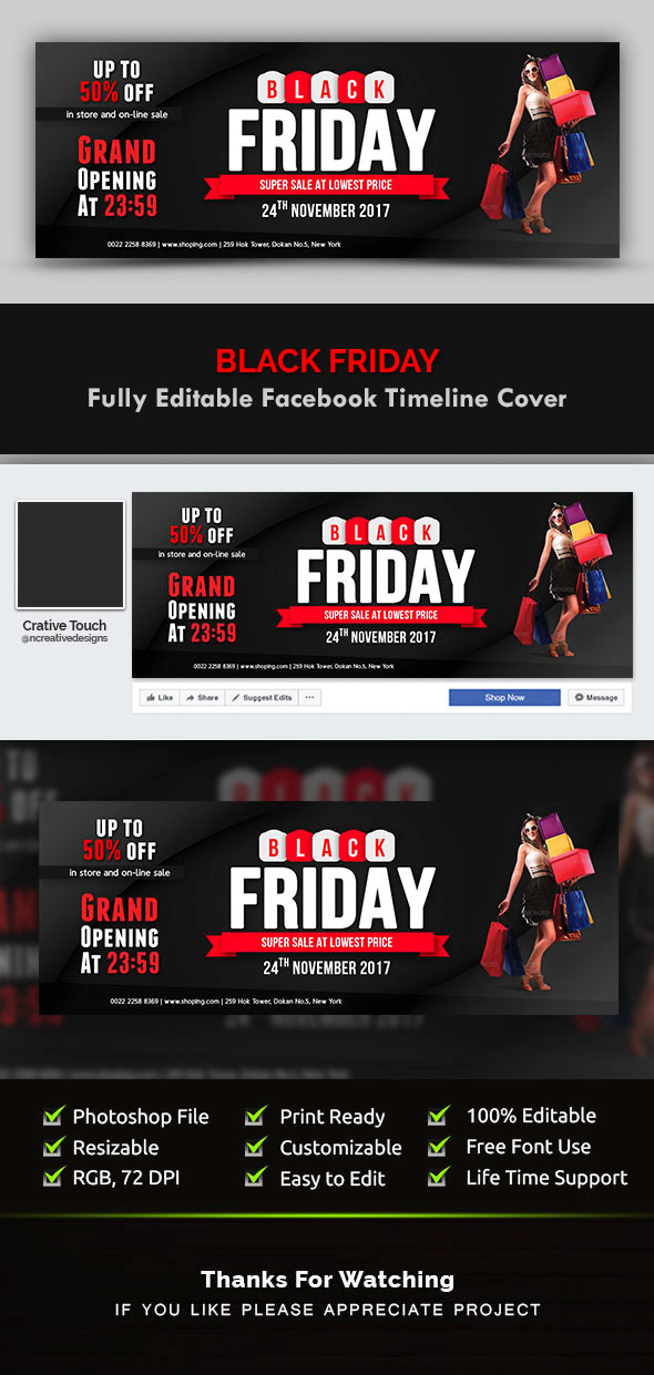 Black Friday Facebook Cover Templates On Behance