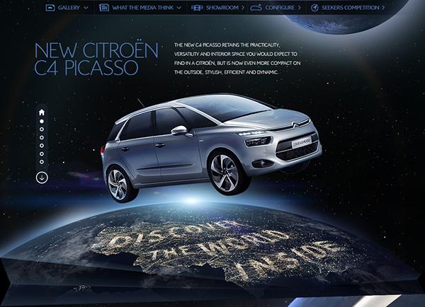 Website ui design car Auto Car Website automotive   citroen new New Car