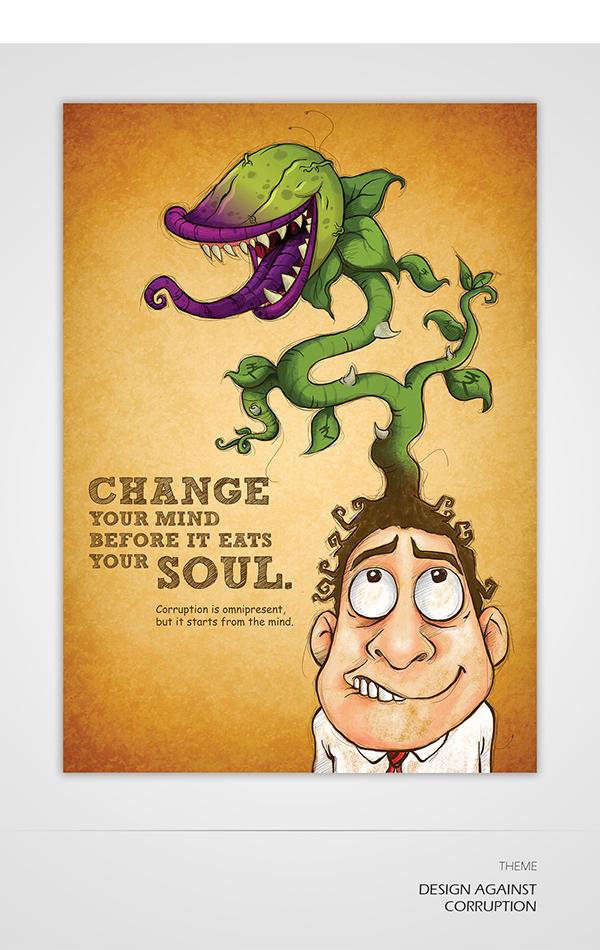 DESIGN AGAINST CORRUPTION // Poster Design on Behance