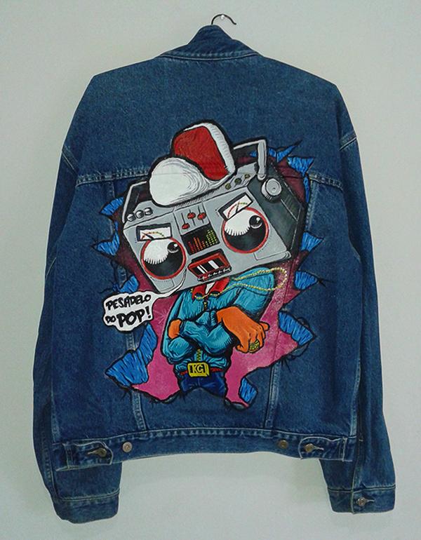 The Nightmare of Pop - Custom Denim Jacket on Behance