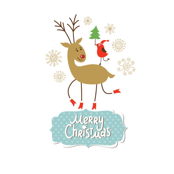 merry christmas and happy new year greeting cards and holiday illustrations