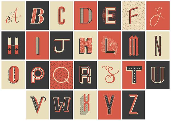 decorative lettering postcards on behance