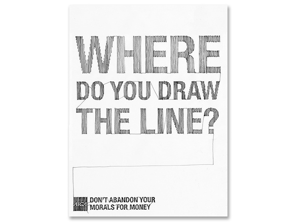 Line Drawing Ethics : Aiga ethics poster on behance