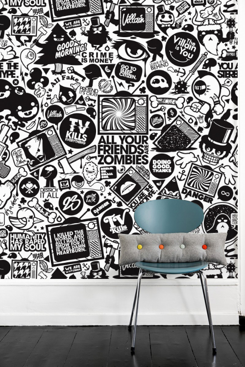 Wall murals wallpapers 2010 on behance for Thank you mural