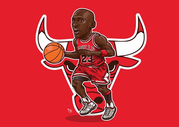 NBA Player -curry, Jordan. On Wacom Gallery